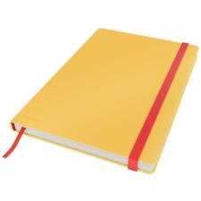 Leitz Beíró, B5, vonalas, 80 lap, keményfedeles, LEITZ  Cosy Soft Touch , melegsárga füzet