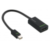 Leitz DisplayPort, mini, HDMI adapter, LEITZ  Complete , fekete