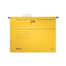 """Leitz Függőmappa, gyorsfűzős, karton, A4, LEITZ \""""Alpha\"""", sárga [25 db] mappa"""