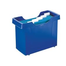 """Leitz Függőmappa tároló, műanyag, 5 db függőmappával, LEITZ """"Plus"""", kék irodai kellék"""