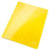"""Leitz Gyorsfűző, laminált karton, lakkfényű, A4, LEITZ """"Wow"""", sárga"""
