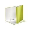 """Leitz Gyűrűs könyv, 2 gyűrű, D alakú, 40 mm, A4 Maxi, karton, lakkfényű,  """"Wow"""", zöld"""