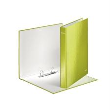 """Leitz Gyűrűs könyv, 2 gyűrű, D alakú, 40 mm, A4 Maxi, karton, lakkfényű,  """"Wow"""", zöld gyűrűskönyv"""