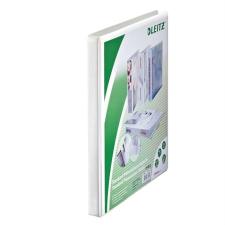 Leitz Gyűrűs könyv, panorámás, 2 gyűrű, 30 mm, A4 Maxi, PP, , fehér gyűrűskönyv