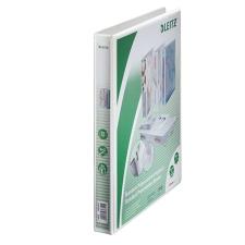 Leitz Gyűrűs könyv, panorámás, 4 gyűrű, D alakú, 38 mm, A4 Maxi, PP, , fehér mappa