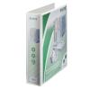 Leitz Gyűrűs könyv, panorámás, 4 gyűrű, D alakú, 77 mm, A4 Maxi, PP, , fehér