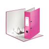 """Leitz Iratrendező, 80 mm, A4, PP/karton, lakkfényű,  """"180 Wow"""", rózsaszín"""