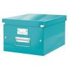 """Leitz Irattároló doboz, A4, lakkfényű, LEITZ """"Click&Store"""", jégkék (E60440051)"""