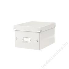 Leitz Irattároló doboz, A5, lakkfényű, LEITZ Click&Store, fehér (E60430001) irattartó