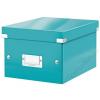 """Leitz Irattároló doboz, A5, lakkfényű, LEITZ """"Click&Store"""", jégkék (E60430051)"""