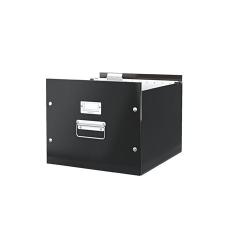 """Leitz Irattároló doboz, függőmappának, LEITZ """"Click&Store"""", fekete irattartó"""
