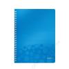 Leitz Spirálfüzet, A4, kockás, 80 lap, LEITZ Wow, kék (E46380036)