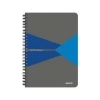 Leitz Spirálfüzet, A5, kockás, 90 lap, PP borító, LEITZ Office, szürke-kék