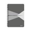 Leitz Spirálfüzet, A5, vonalas, 90 lap, PP borító, LEITZ Office, szürke