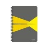 Leitz Spirálfüzet, A5, vonalas, 90 lap, PP borító, LEITZ Office, szürke-sárga