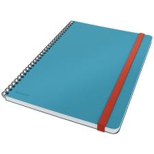 Leitz Spirálfüzet, B5, vonalas, 80 lap, LEITZ,  Cosy Soft Touch , nyugodtkék füzet