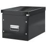 """Leitz Tároló doboz, lakkfényű, L méret, LEITZ """"Click&Store"""", fekete"""