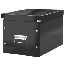 """Leitz Tároló doboz, lakkfényű, L méret, LEITZ """"Click&Store"""", fekete irattartó"""