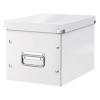 """Leitz Tároló doboz, lakkfényű, M méret, LEITZ """"Click&Store"""", fehér"""
