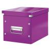 """Leitz Tároló doboz, lakkfényű, M méret, LEITZ """"Click&Store"""", lila"""