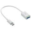 """Leitz Töltő- és adatkábel USB-C - USB- A(F) 3.1, 0,15 m, LEITZ, """"Complete"""", fehér"""