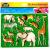 LENA Egzotikus állatok rajzolósablon 2 darabos készlet - Lena golyófuttató, pötyi, műanyag játékok