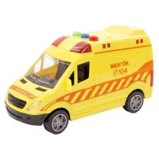 Lendkerekes magyar mentőautó hanggal és fénnyel autópálya és játékautó