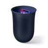 Lexon Oblio 10W Wireless charging station with built-in UV sanitizer Dark Blue