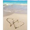 Leykam Alpina (BSB) BSB ajándékkísérő (6,5x8 cm) szívek a homokban (állvány)