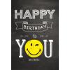 Leykam Alpina (BSB) BSB képeslap, Happy Birthday, fekete, smile (állvány)