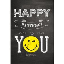 Leykam Alpina (BSB) BSB képeslap, Happy Birthday, fekete, smile (állvány) képeslap