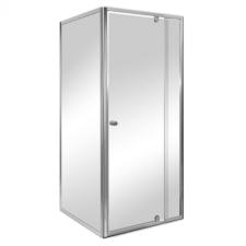Leziter Flexi falsíkra szerelhető szögletes zuhanykabin 80x80 cm zuhanytálca nélkül kád, zuhanykabin