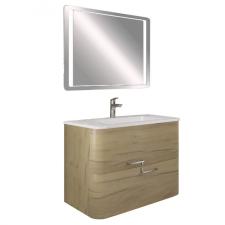 Leziter Greta 100 fürdőszobabútor öntöttmárvány mosdóval, tükörrel bútor