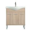 Leziter Nerva 75 cm-es bútorhoz alsószekrény, mosdóval, Sonoma tölgy