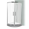 Leziter Spirit BAMBOO íves zuhanykabin, erősített akril zuhanytálcával