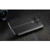 LG G5 H850 hátlap képernyővédő fóliával - IMAK Vega Leather - fekete