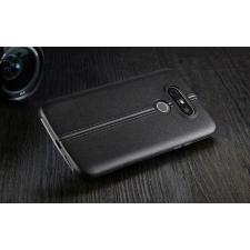LG G5 H850 hátlap képernyővédő fóliával - IMAK Vega Leather - fekete tok és táska