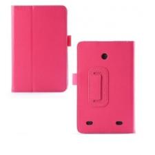 LG G Pad 7.0, bőrtok, mappa tok, magenta tablet tok