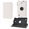 LG G Pad 8.0 V480, bőrtok, mappa tok, elforgatható (360°), fehér