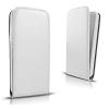 LG K10, Forcell lenyitható bőrtok, Slim Flexi, felfelé nyíló - kinyitható, fehér