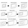 LG Noosy 3 az 1-ben sim kártya adapter