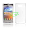 LG P600 Optimus L7 fehér szilikon tok