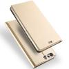 LG Q6, Oldalra nyíló tok, stand, Dux Ducis, arany