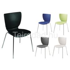 LIN-Mono Colorplast Crom műanyag szék tárgyalószék