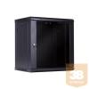 Linkbasic fali rack szekrény 19'' 12U 600x450mm fekete