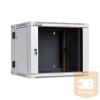 Linkbasic kétrészes fali rack szekrény 19'' 9U 600x550mm szürke