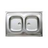 LIVINOX N111K kétmedencés teletetős mosogató