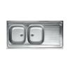 LIVINOX N134JK teletetős kétmedence,csepptálcás mosogató