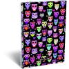 LizzyCard Füzet spirál A/4 kockás Lollipop Dark Owl 17304022