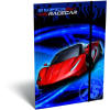 LizzyCard Gumis mappa A/5 Super Racecar Red Lightning 17524102
